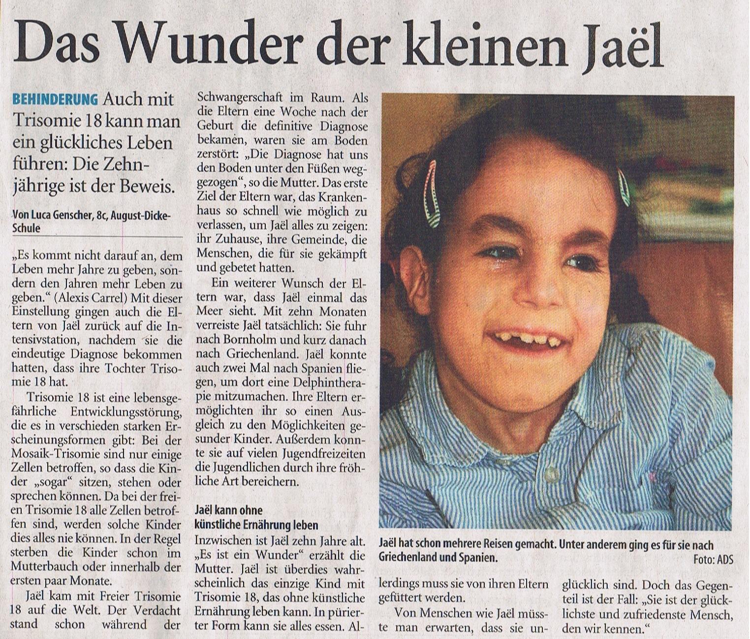 Zeitungsartikel 1